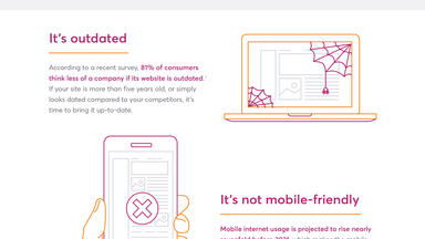 6 signs it's time for a website redesign infographic