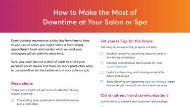 How to Make the Most of Downtime at Your Salon or Spa Checklist