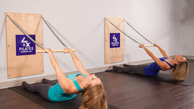 Two women using doing Pilates at IM=X