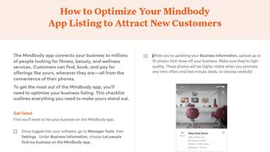 How to Optimize Your Mindbody App Listing