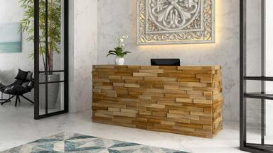 Front desk at a spa or salon