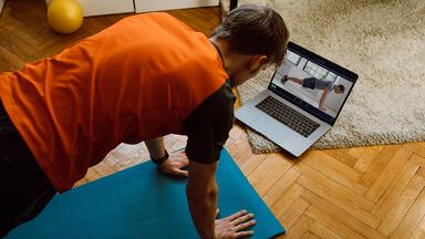 Virtual personal training session