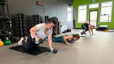 A class at the Sweat Box
