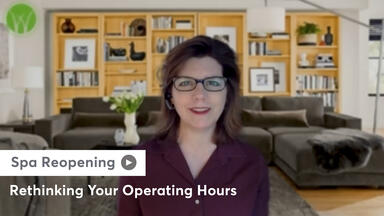 Lisa Starr sharing about how to rethink your operating hours as your spa reopens