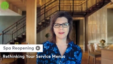 A still of Lisa Starr sharing how to rethink your spa service menu