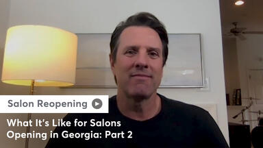 A still of Chris Nedza talking with Georgia salon owners