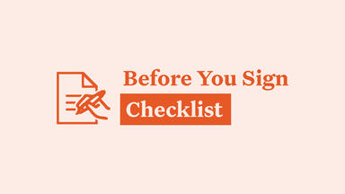 Before You Sign Checklist
