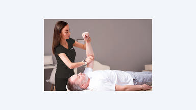 A man being stretched at LaVida Massage
