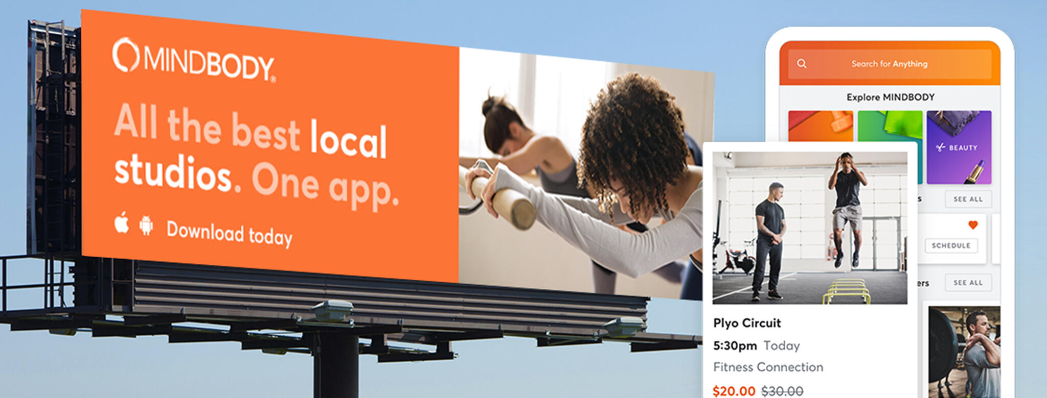 MINDBODY national ad campaign on billboard