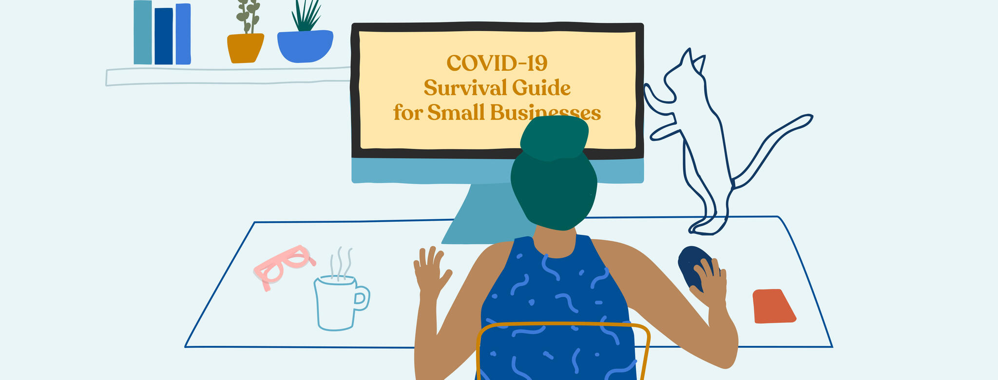 Graphic reading COVID-19 Survival guide