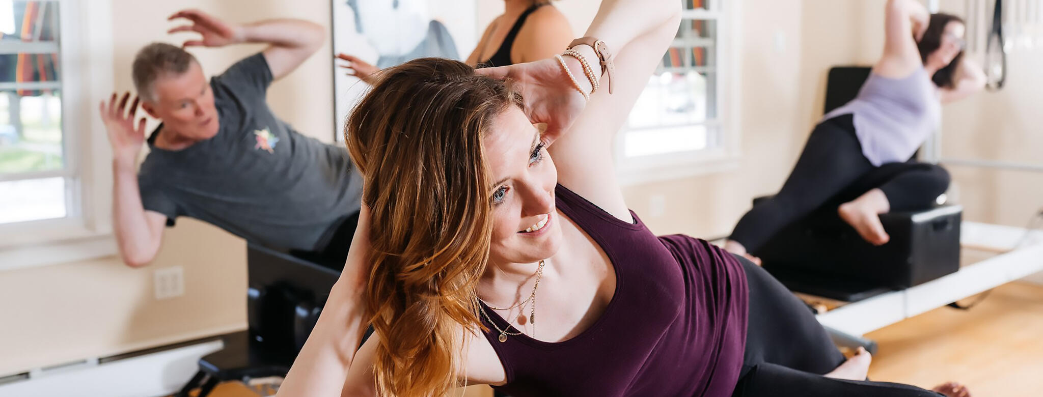 Laurie Johnson taking Pilates at The Studio in Hadley