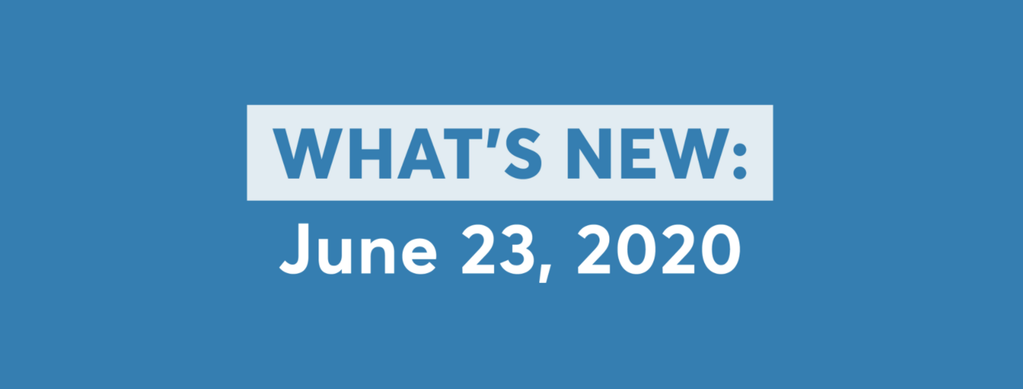 new software updates june 23 2020