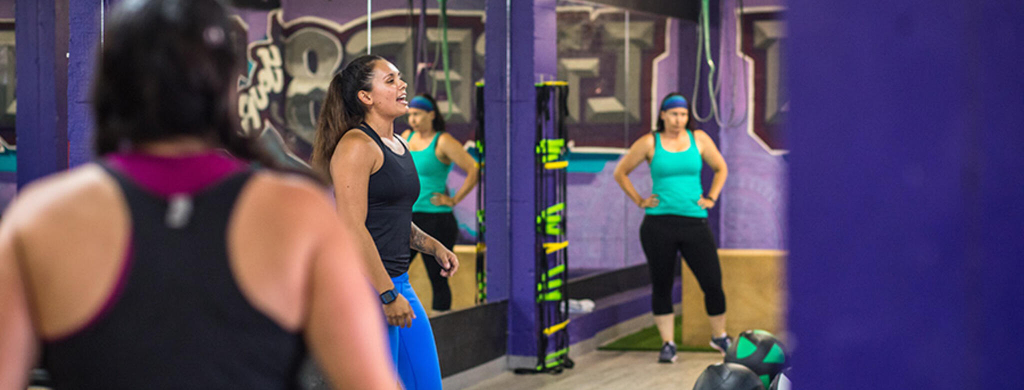 A class at Liber8Fit Underground in San Diego, CA