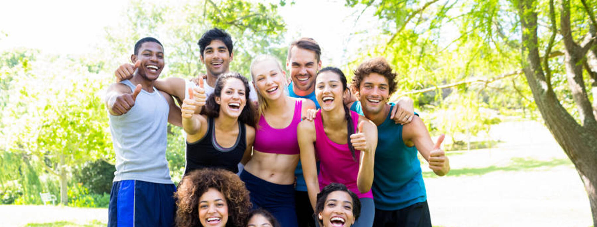 A group of fitness students