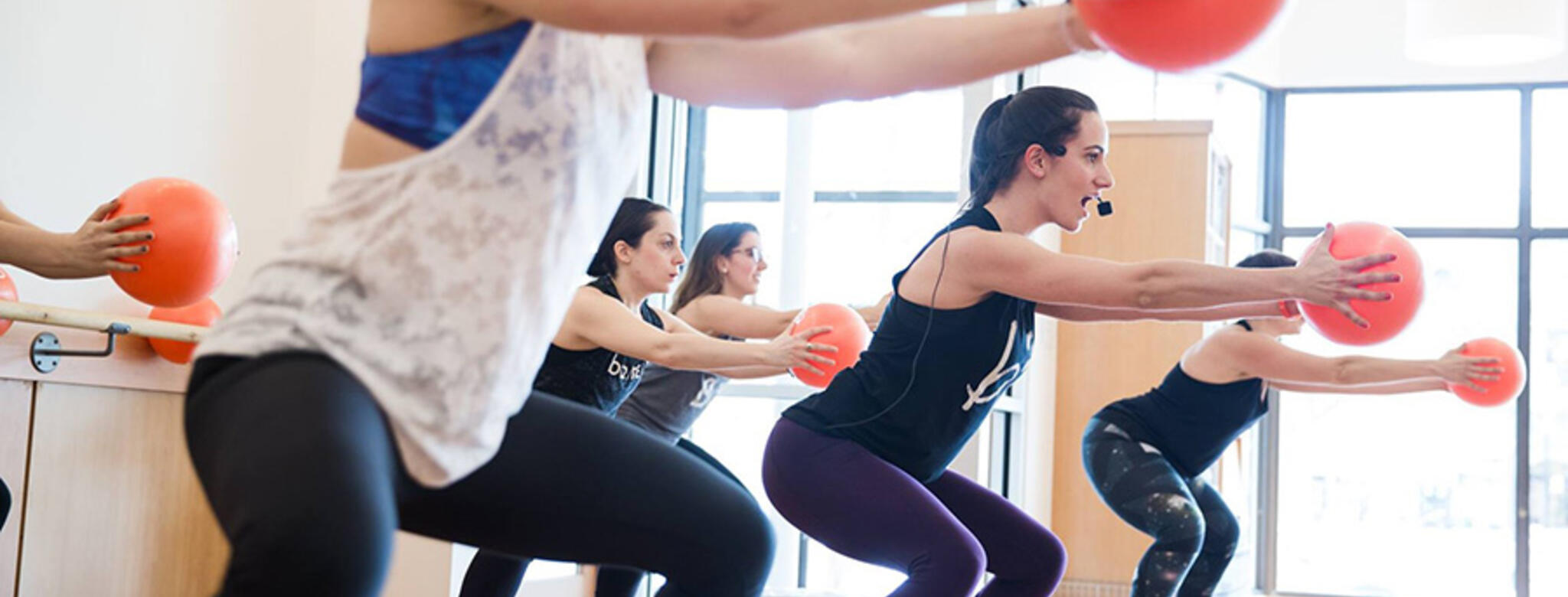 Class at Barre3 Brookline