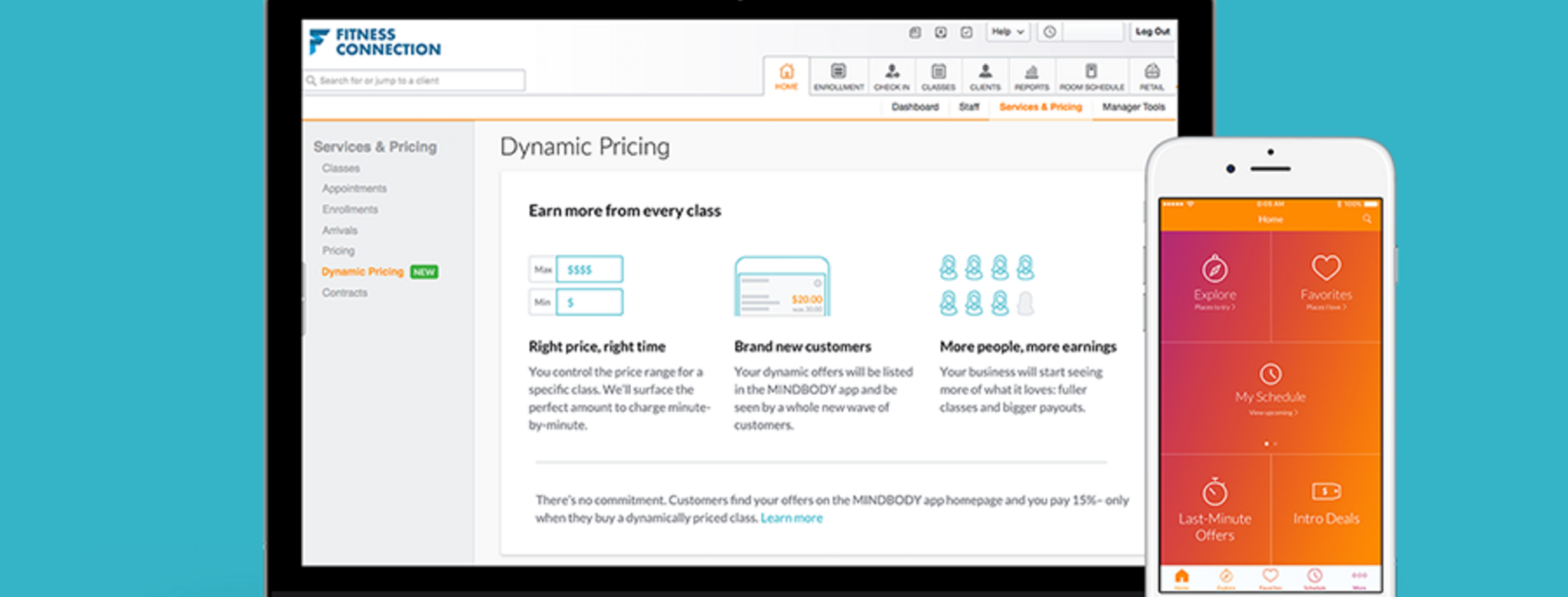 MINDBODY Dynamic Pricing Software Feature