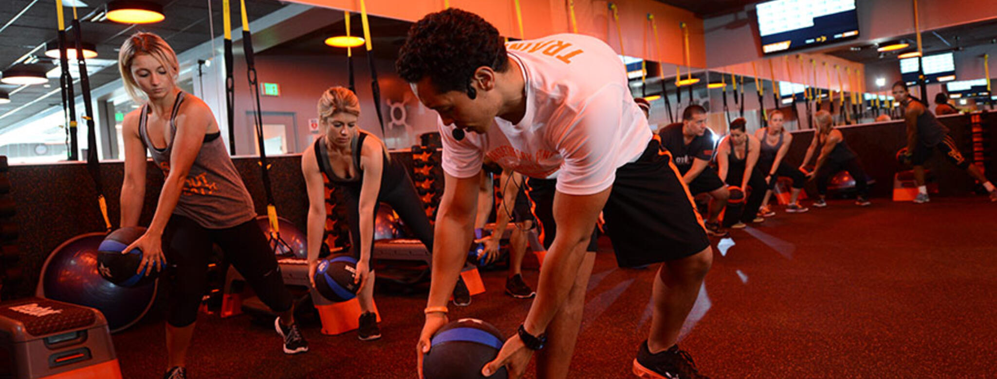 Group fitness class at Orangetheory
