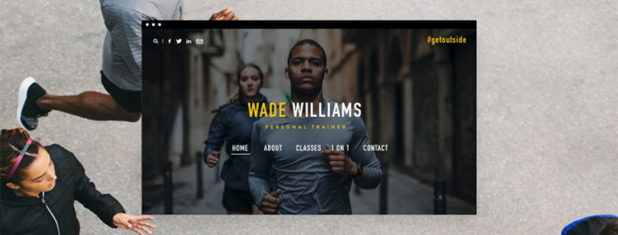 runners and website home screen