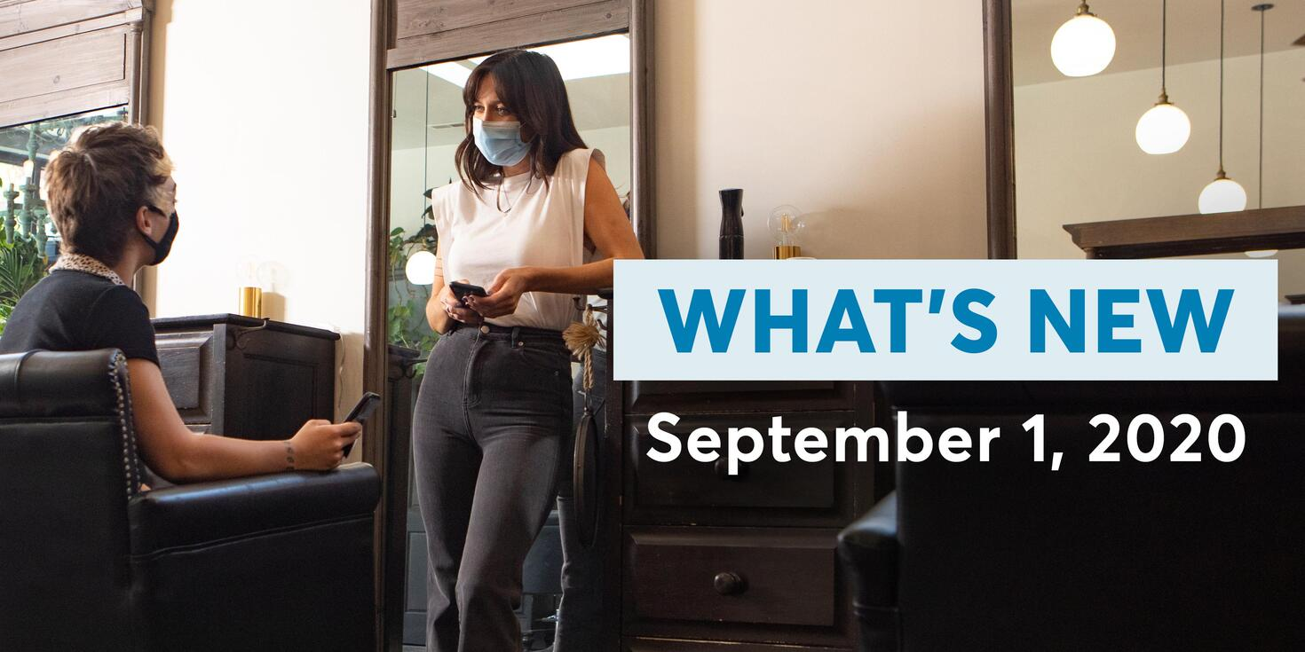 What's New: September 1, 2020