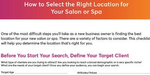 How to select the right location for your salon or space checklist