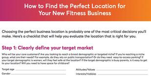 How to find the perfect location for your new fitness business