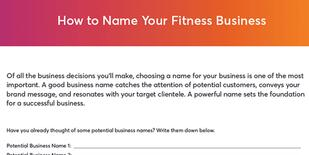 How to name your fitness business checklist
