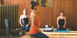 A class at Kindness Yoga