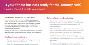 Checklist for getting your fitness business ready for the January rush