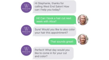 AI Receptionist Salon